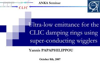 Ultra-low emittance for the CLIC damping rings using super-conducting wigglers