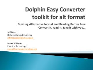 Dolphin Easy Converter  toolkit for alt format