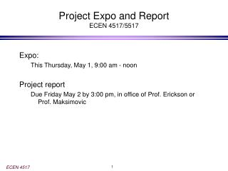 Project Expo and Report ECEN 4517/5517