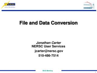File and Data Conversion