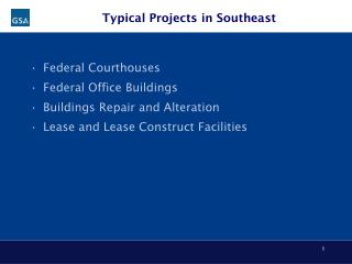 Typical Projects in Southeast