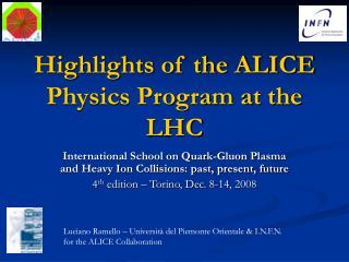 Highlights of the ALICE Physics Program at the LHC