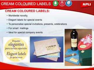 CREAM COLOURED LABELS:
