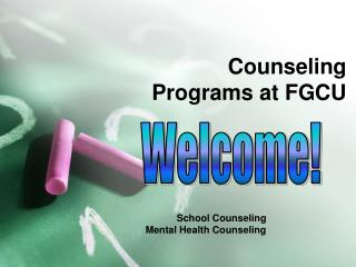 Counseling Programs at FGCU