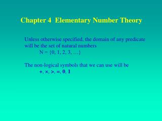 Chapter 4  Elementary Number Theory