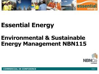 Essential Energy Environmental & Sustainable Energy Management NBN115