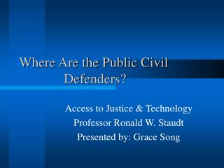 Where Are the Public Civil 				Defenders?