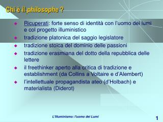 Chi è il  philosophe  ?