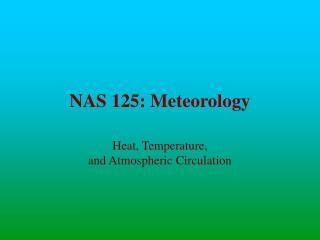 NAS 125: Meteorology