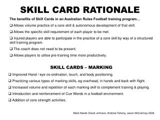 SKILL CARD RATIONALE