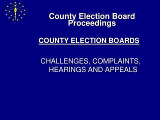 County Election Board Proceedings