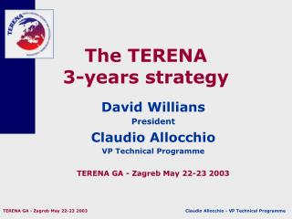 The TERENA 3-years strategy