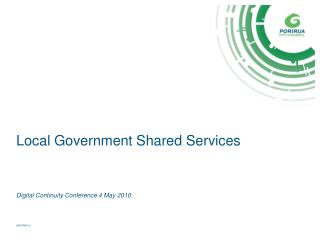 Local Government Shared Services