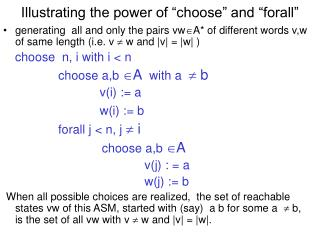 "Illustrating the power of ""choose"" and ""forall"""