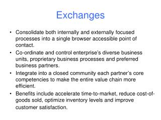 Exchanges