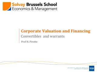 Corporate Valuation and Financing