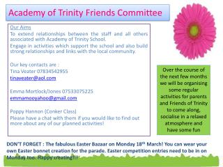 Academy of Trinity Friends Committee
