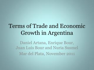 Terms of Trade and Economic Growth in Argentina