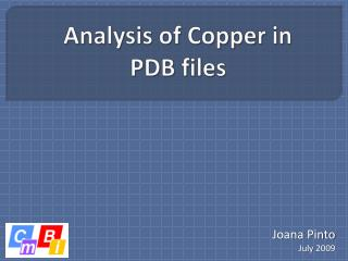 Analysis of Copper in PDB files