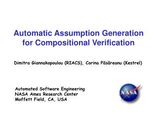 Automatic Assumption Generation for Compositional Verification