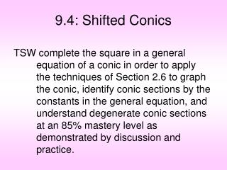 9.4: Shifted Conics