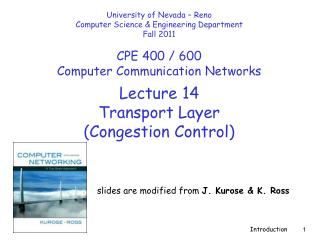 Lecture  14 Transport Layer  (Congestion Control)