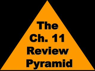 The Ch. 11 Review  Pyramid