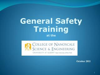 General Safety Training at the