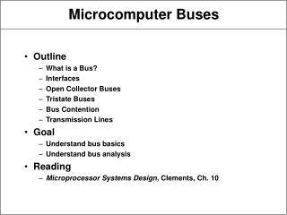 Microcomputer Buses