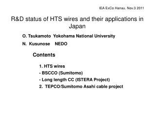 R&D status of HTS wires and their applications in Japan