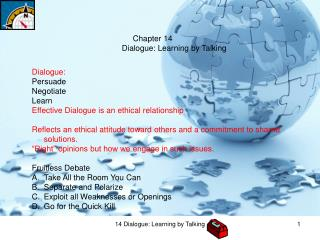 Chapter 14    Dialogue: Learning by Talking