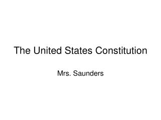 The United States Constitution