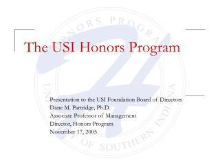 The USI Honors Program