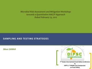 Sampling and testing strategies