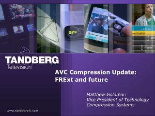 AVC Compression Update: FRExt and future
