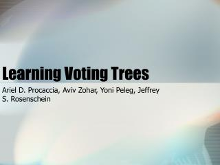 Learning Voting Trees