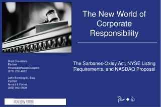 The New World of Corporate Responsibility