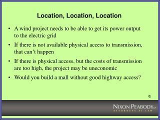 Location, Location, Location
