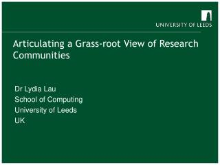 Articulating a Grass-root View of Research Communities