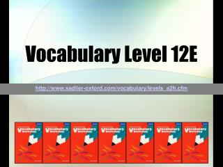 Vocabulary Level 12E