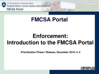 Enforcement: Introduction to the FMCSA Portal