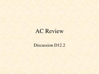 AC Review