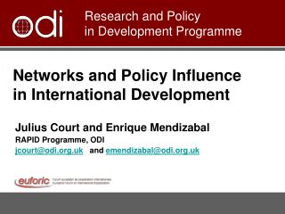 Networks and Policy Influence in International Development