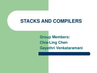 STACKS AND COMPILERS