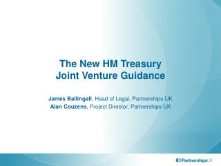 The New HM Treasury Joint Venture Guidance