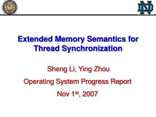Extended Memory Semantics for Thread Synchronization