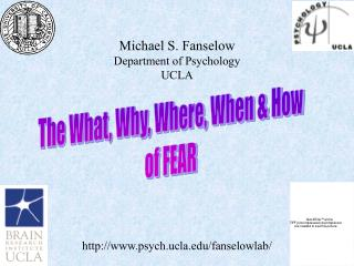 Michael S. Fanselow Department of Psychology UCLA