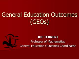 General Education Outcomes (GEOs)