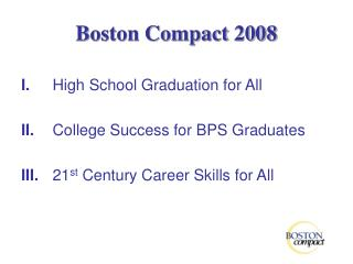 Boston Compact 2008