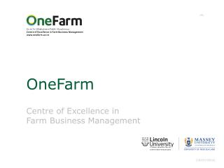 Centre of Excellence in Farm Business Management